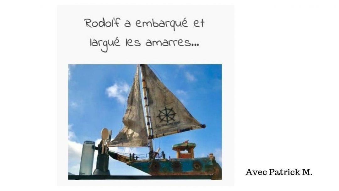 rodol'f en bateau avec patrick