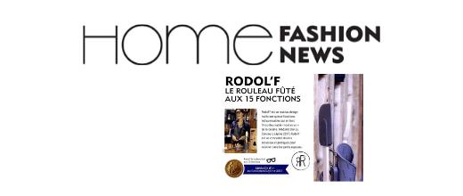 extrait article home fashion news pour rodol'f le rouleau