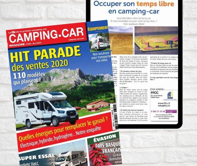 Occuper son temps libre en camping-car