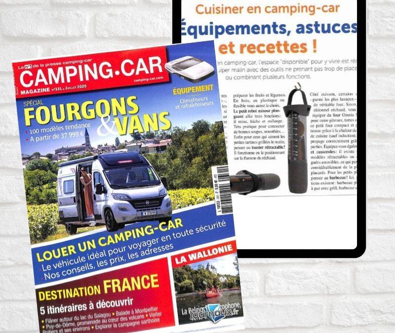 Revue presse article rodol'f rouleau cuisine multifonction camping car mag